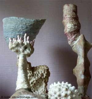 Sculptures in progress by Addé
