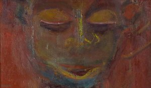 African portrait painting by Xea B (detail)