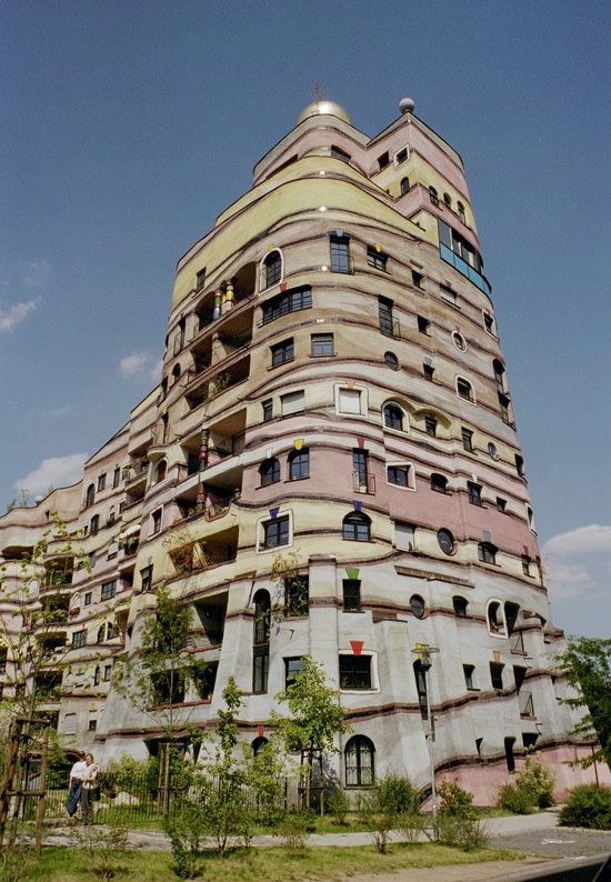 This is a Hundertwasser building.