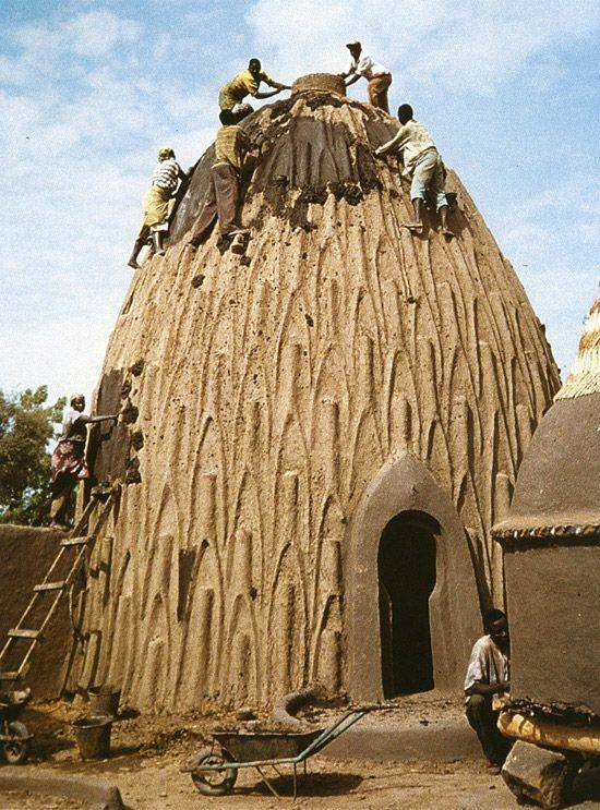 African adobe architecture