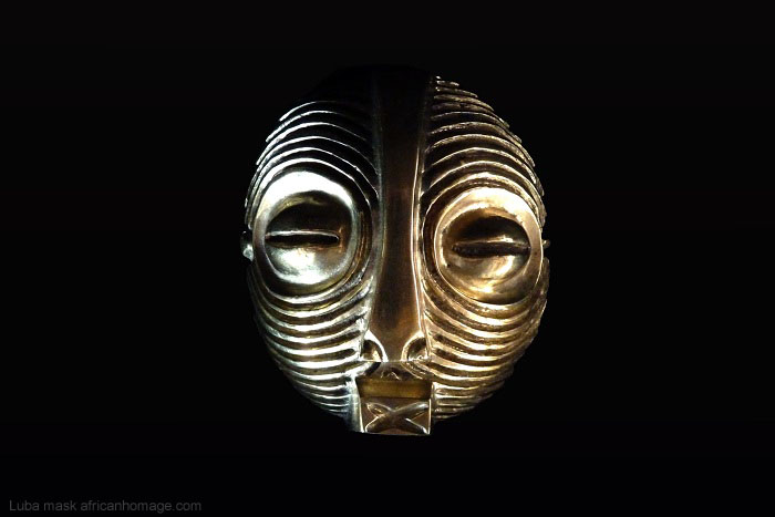 Luba mask pendant