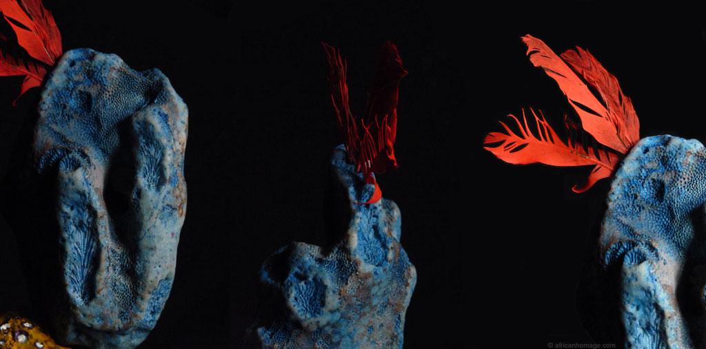 Sculpture Semaphoric metaphoric bird © Addé