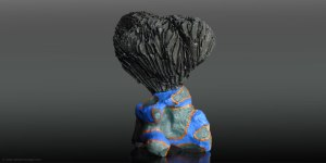 African Homage sculpture The soul of earth II