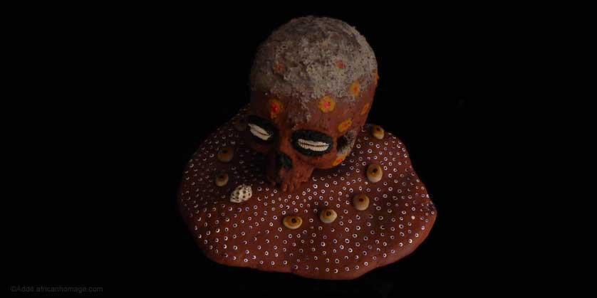 Sculpture, Artist Addé, polychromy, The Ancestor, African Homage