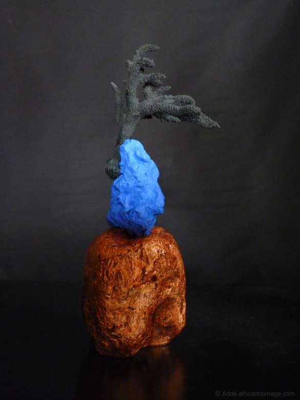 Sculpture, polychromy, Addé, Celebrating the Wind, African Homage