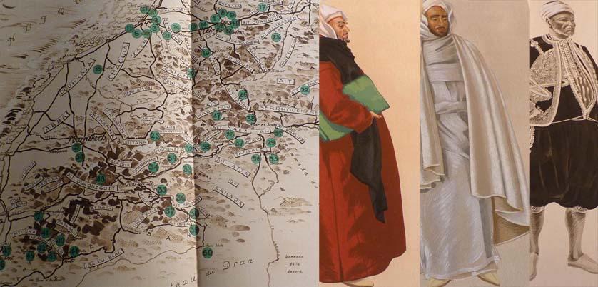 carte géographique Maroc costumes Besancenot-Girard