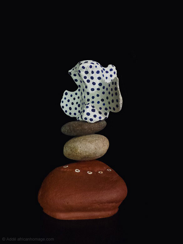 sculpture, Addé, Can you see the light? (18), African Homage