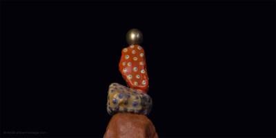 Pin Ball Wizard trophy, sculpture detail, Addé
