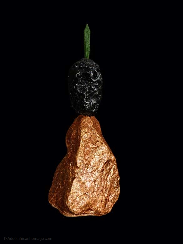 Qual Piuma al Vento, sculpture, Addé, africanhomage
