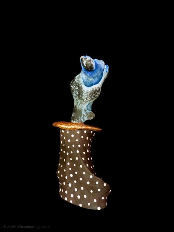 Murasaki, sculpture, Addé, polychromy, africanhomage