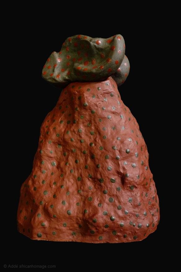 Bass Sola, Addé, sculpture, Addé, African Homage