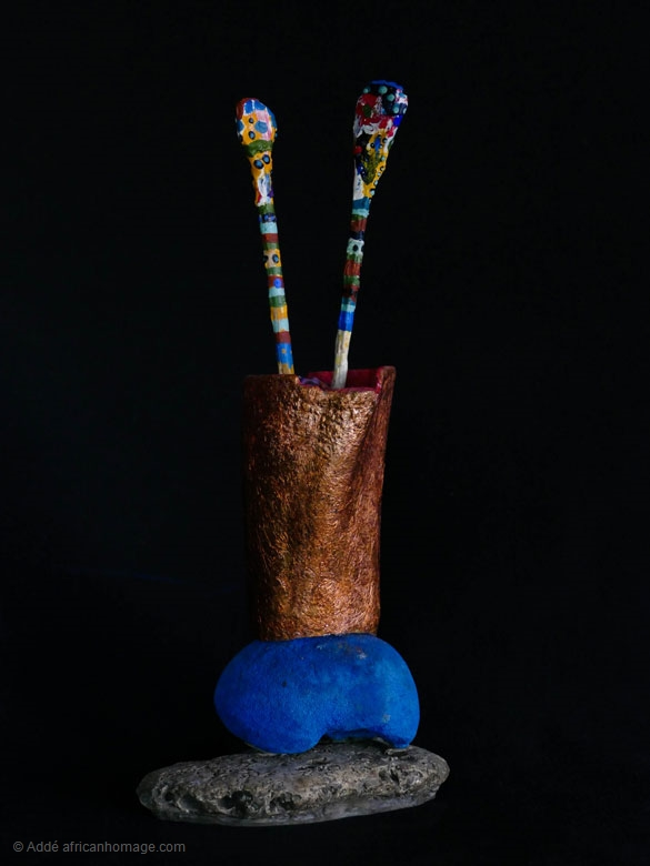 Reliquary I, Addé, sculpture, African Homage