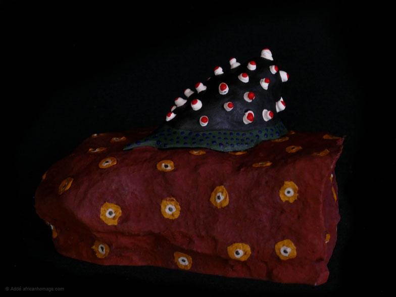 Do slugs dream, sculpture, Addé, African Homage