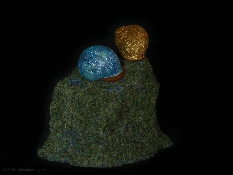 The glittering snail, sculpture, Addé