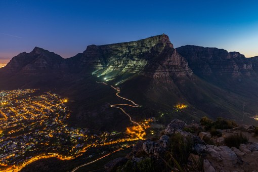 A view of the Table Mountain in Cape Town