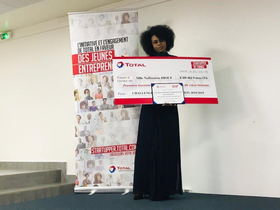Nafissatou Diop et un prix pour sa start up