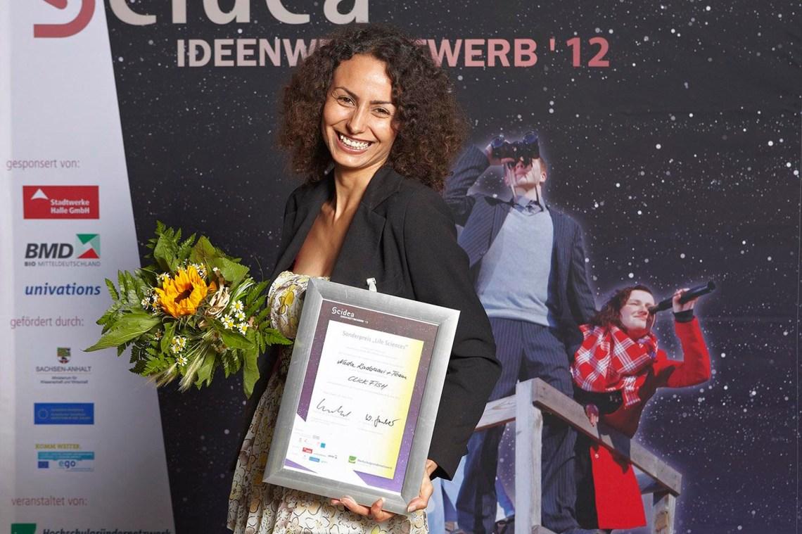 scidea-nada après avoir reçu son prix, Marco Warmut, juin 2012