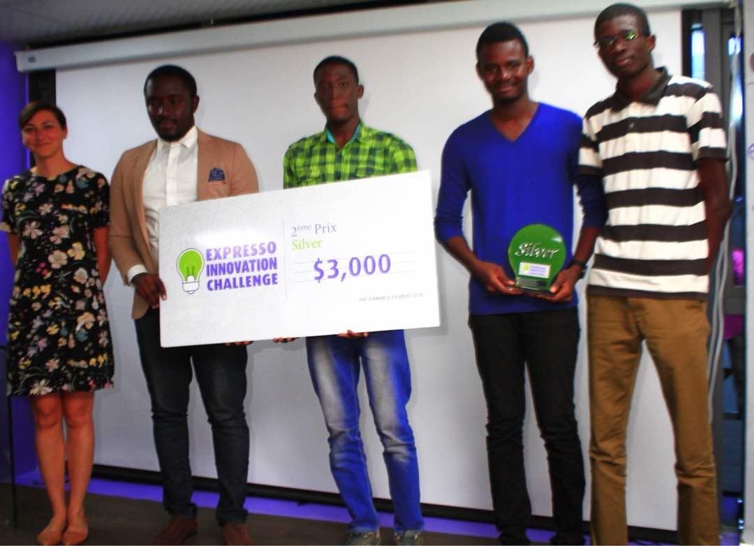 sunubus-les concepteurs de l'application raffle le prix Expresso Innovation Challenge, ESP, juillet 2018