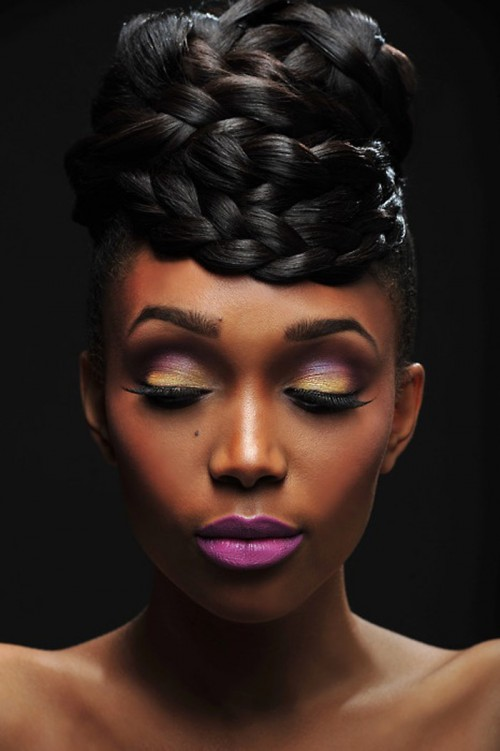 braided-crown-bun-for-black-women-2016