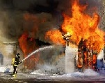 L' incendie qui s'est déclenché
