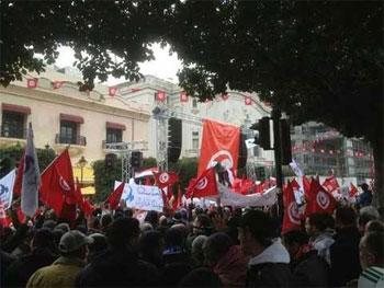 Plusieurs marches et rassemblements ont eu lieu à l'Avenue Habib Bourguiba