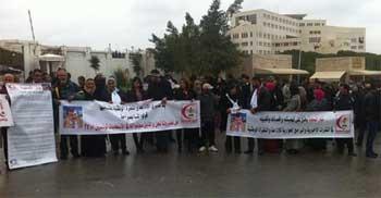 Des partisans de Tayar Al-Mahabba se sont rassemblés