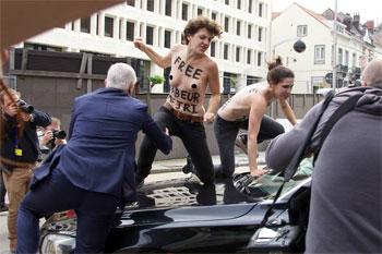 Des Femen belges ont voulu manifester