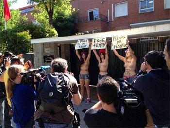 Trois Femen européennes