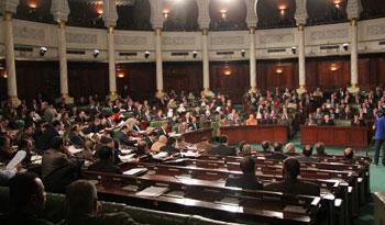Quelques instants avant le démarrage de la séance plénière consacrée au vote de confiance au gouvernement de Mahdi Jomaa