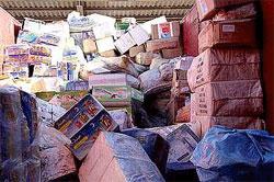 13 tonnes de produits alimentaires subventionnés et destinés à la contrebande vers la Libye ont été saisie par les agents de sureté à Médenine.