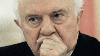 L'ex-président géorgien Edouard Chevardnadze