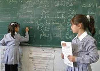Lors d'un dépistage de la maladie de la gale (Jrab) dans une école à Oued Laya
