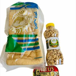Agege bread + Titus Sardine + Crunchy groundnut