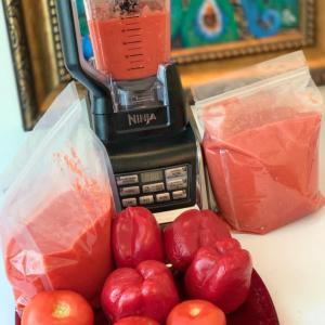 Blended Tomatoes, Onion, Red bell Tatashe, Fresh Pepper Purée 5kg Large Ziplock bag