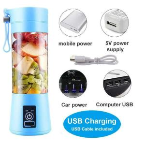 Portable  On The Go Rechargeable Smoothie Blender (Blue)
