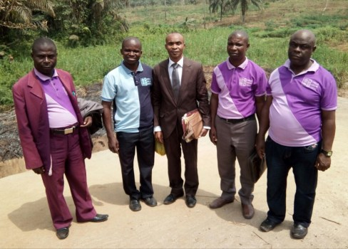 Ime Inuaeyen, Mojima & my coworkers after Baptism