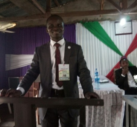 Mojima Etokudo speaking at Oron WBSET Inauguration