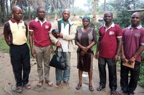 Ukanafun WBSET at the river side with Idongesit Thompson