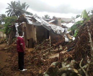 A Widow & Newly baptized sister House Damage by Rainstorms3