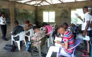 Adult Bible class at Ata Essien Obio Akpa church