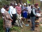 The converted Idolatrous man kneeling down for prayers