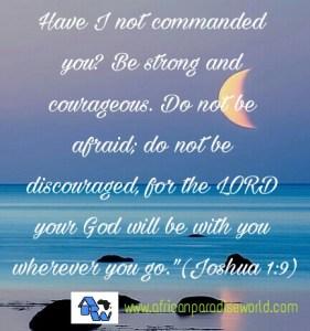 bible quote Joshua 1-9