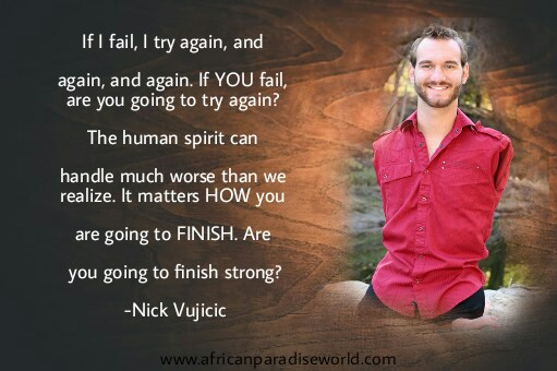 Best inspirational quotes:Nick Vujicic