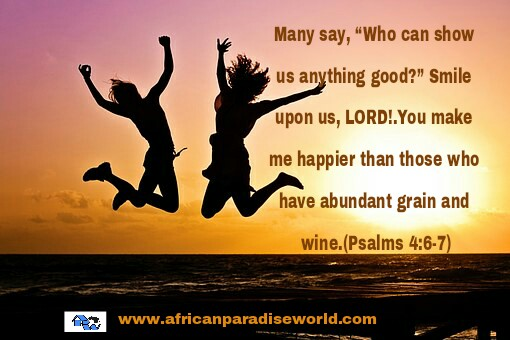 Know that true happiness in life comes from the Lord