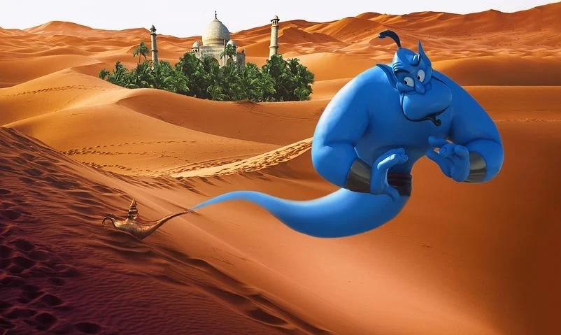 A Genie come make your wishes come true