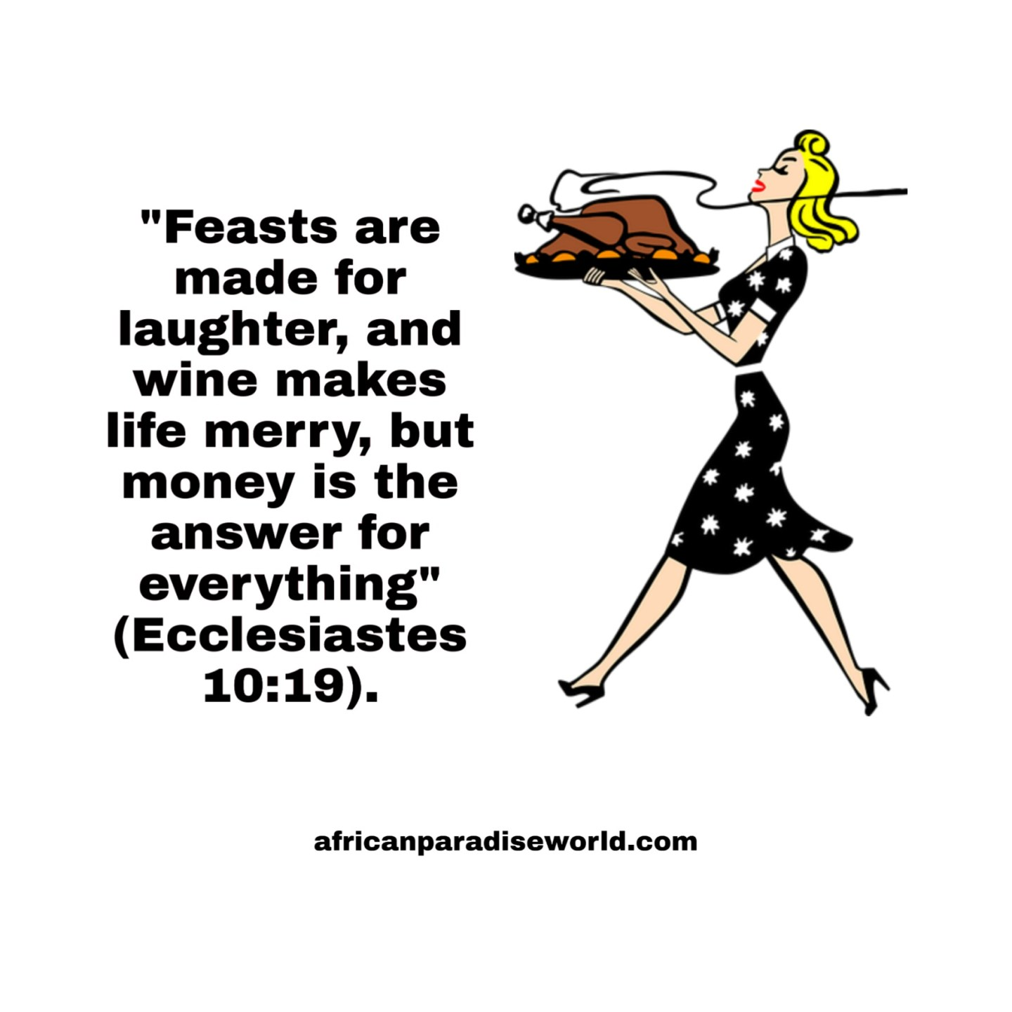 Feasting and enjoyment Bible verse
