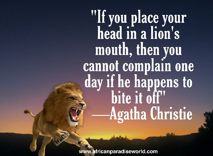 Wise quote from Agatha Christie