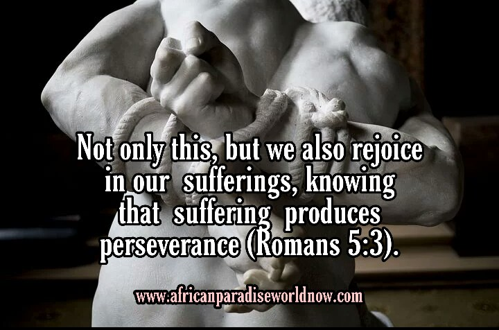 Picture Bible verses showing Romans 5:3