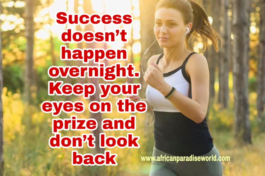 A girl with success quote