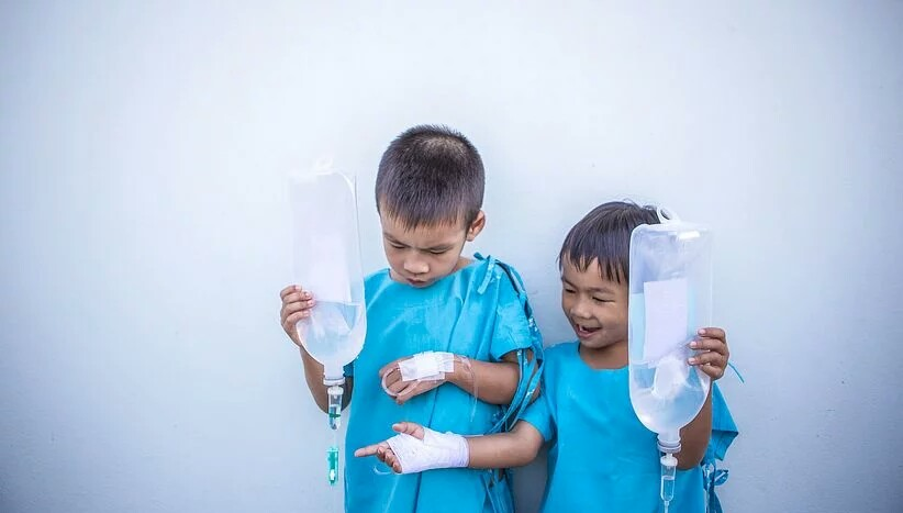 Two sick children who need prayers to stay healthy